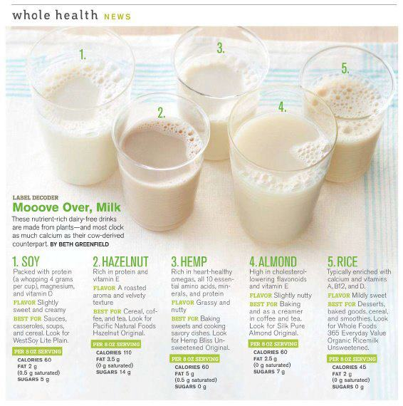 Great Dairy-Free Milk Alternatives