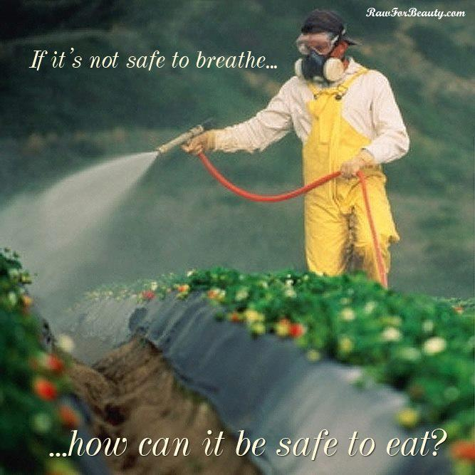 Unsafe to breathe but safe to eat?!