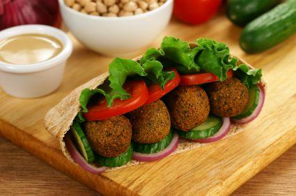 Baked Falafel Vegan Recipe with Israeli Salad and Tahini dressing – Great for kids!