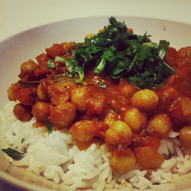 chickpea and basmati rice